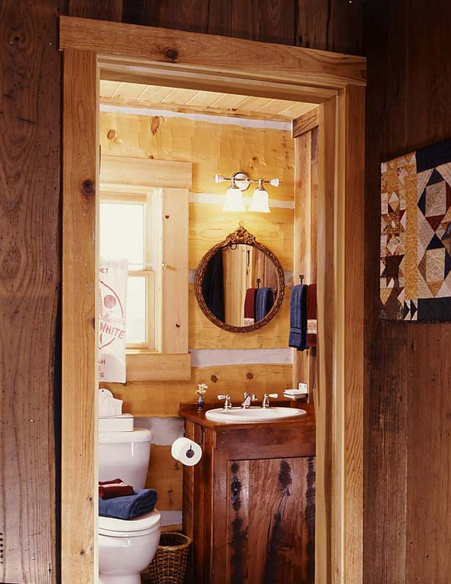 tiny cabin bathroom