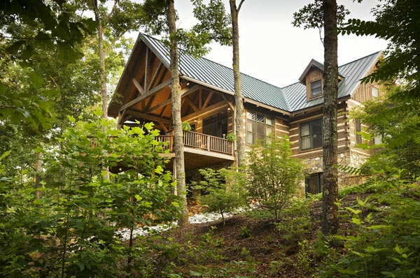 Blue Ridge Mountain Log Cabin