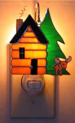 Log Cabin Nightlight & Fixture