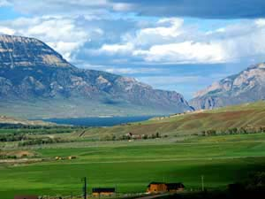 wapiti, wyoming - best place to build a log home