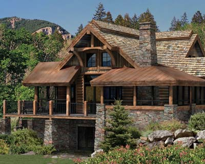 The Alderbrook | PrecisionCraft Log & Timber Homes