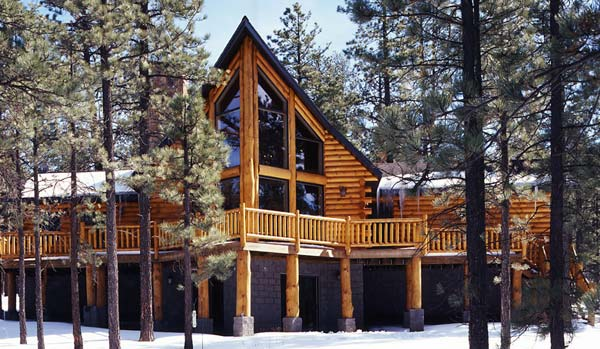 arizona log home, golden eagle log homes