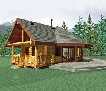 Aspen Meadow Small Log Home