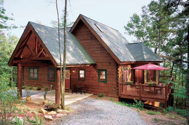 barna log homes, cozy cabin
