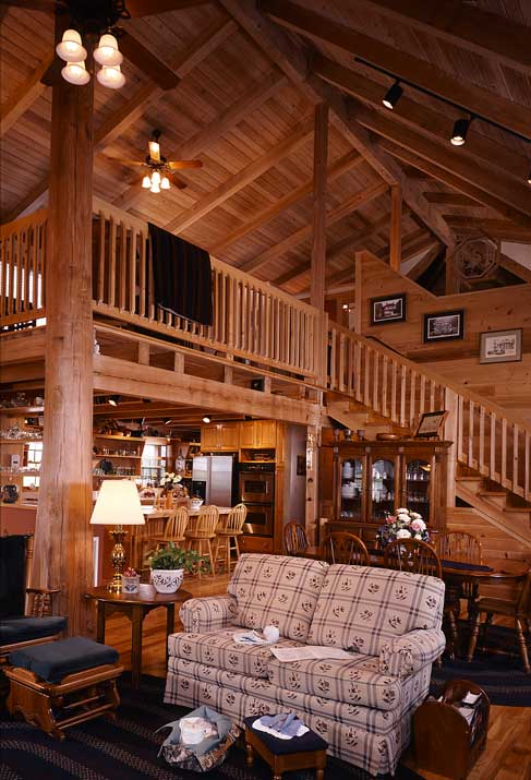 inside the log home
