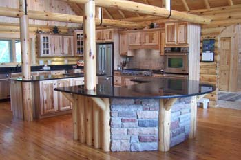 Creative Log Home Kitchen | Northwoods Log Homes