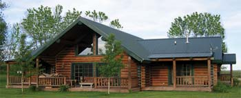 Creekside small log home
