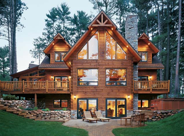 custom built, log home