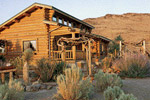 desert log home location