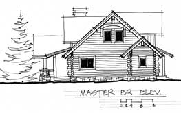 log home elevation