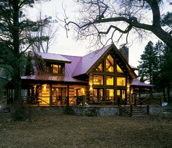 elk river ii, small log home