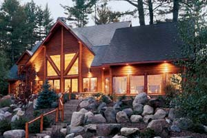 chalet style log home