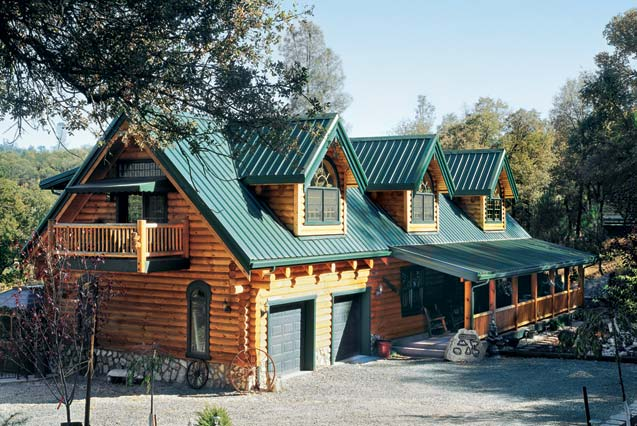 Creekside log home striking it rich heritage log homes Country log home