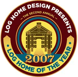 Log Home Design's Home of the Year Stamp