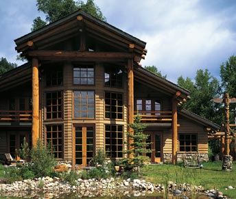 lodge log home