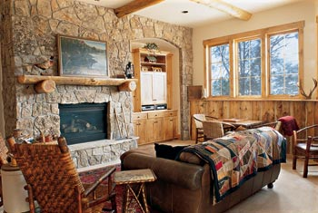 log home basement