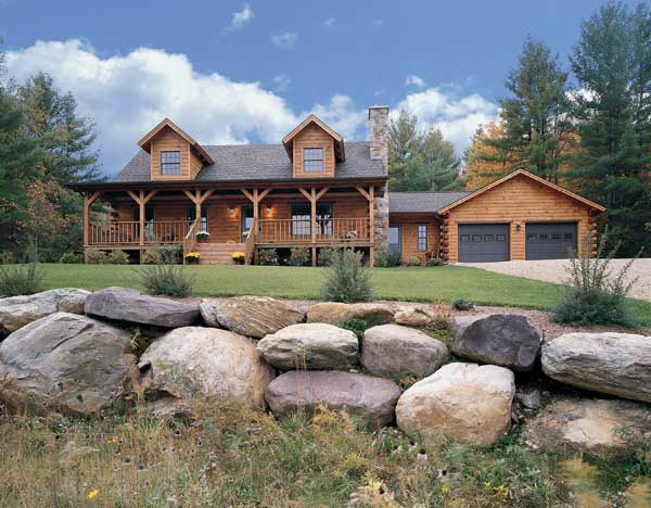 vermont log home, Real Log Homes