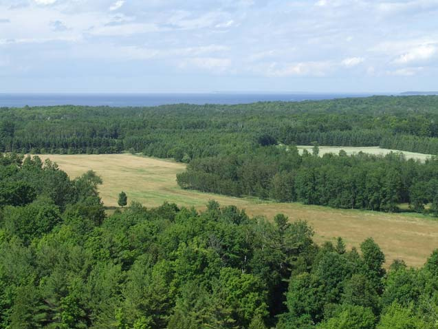 View from Lookout Tower   Washington Island, Wisconsin