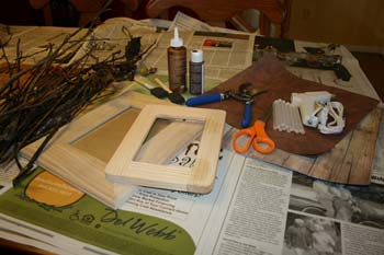 make a twig frame | supplies