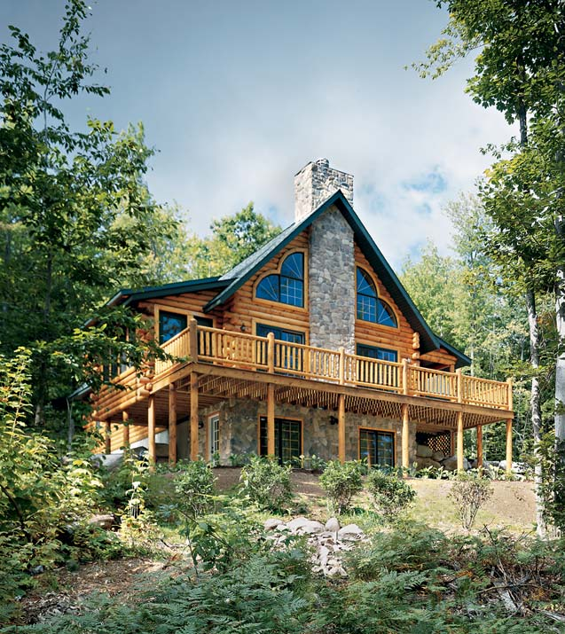 Mountainside Log Home | Golden Eagle Log Homes