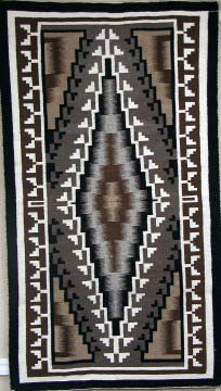 Christine Allen signature Navajo Weaving