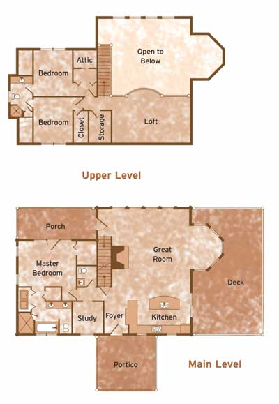 WITT by Barna Log Home Floorplans