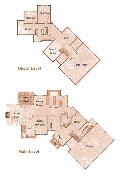 BOULDER RIDGE by Wisconsin Log Homes Floorplans