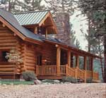 Exterior of a well maintain log home