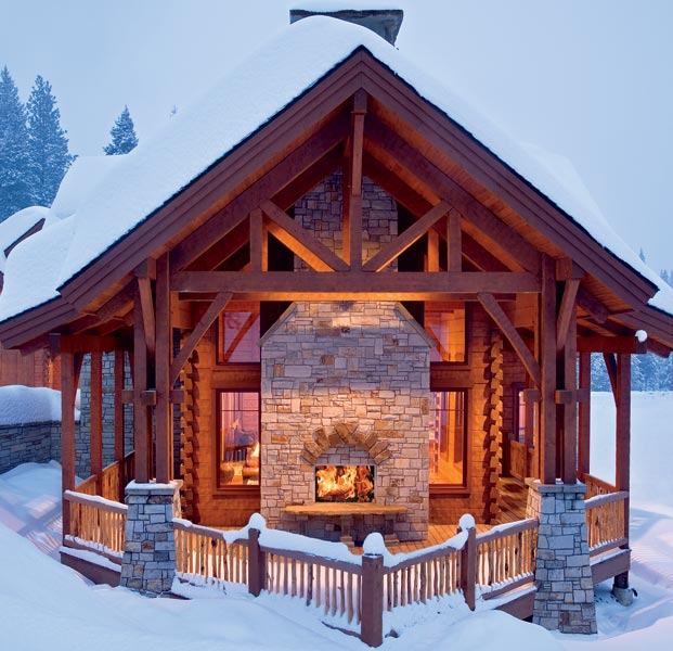 ski lodge, precisioncraft log homes