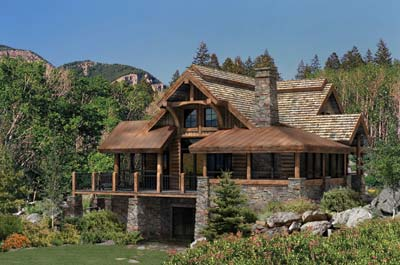 PrecisionCraft Log Homes | The Alderbrook Log Home