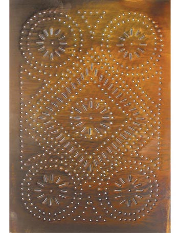 punched tin cabinet panel