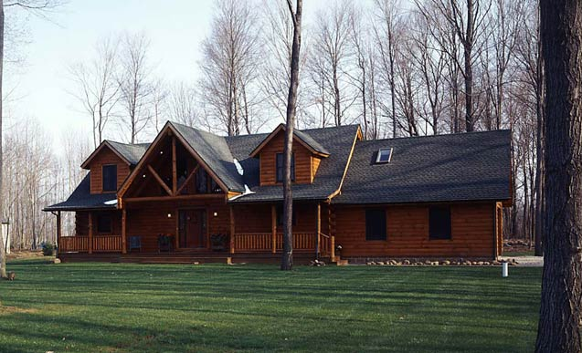 real log homes, classic log cabin