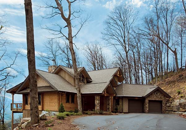 blue ridge mountain log home, roger wade, honka log homes