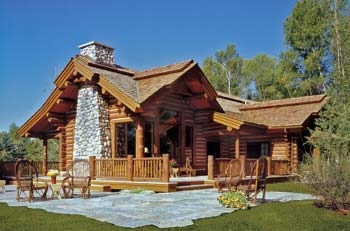 small log home, Alpine Log Homes