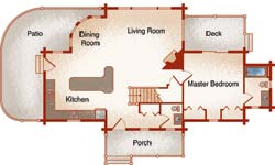 tahoe log home plan