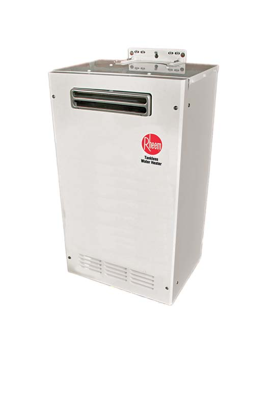 Image of a Rheem Tankless Water Heater