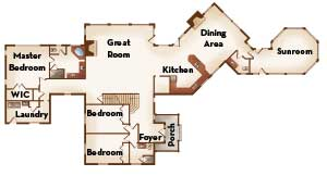 Timber home floor plan