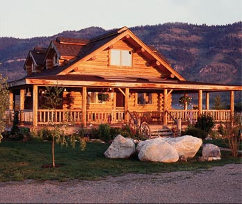 traditional log home