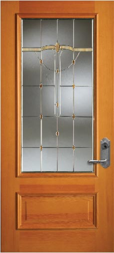 Wood/veneer-finish grade door