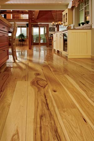wide plank hickory flooring