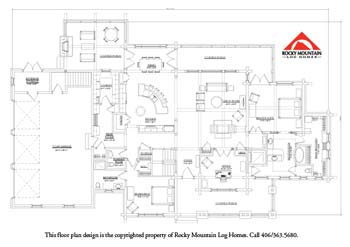Willow Log Home Plan | Rocky Mountain Log Homes