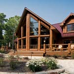 Finished Wisconsin Log Home | Wisconsin Log Homes Photo