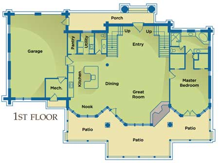 Mountain State Log Homes floorplan main