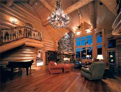 Mountain State Log Homes interior
