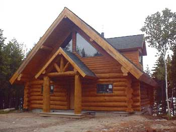 tucker mountain handcrafted log home