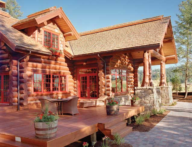 Caribou Creek Log Homes Exterior