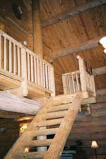 Flynn Log Homes Stairs
