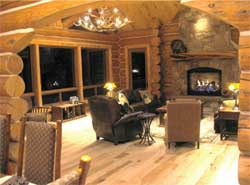 Forest Classics Log Homes - Bellhaven Interior