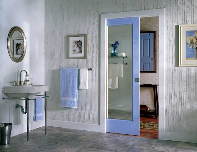 Pocket style door