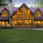 Alpine Meadow II - full back exterior - Wisconsin Log Homes Inc